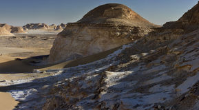 White desert mountains panorama Royalty Free Stock Photography