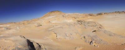White desert mountains panorama Royalty Free Stock Image