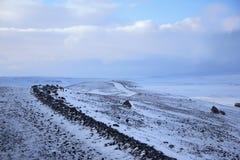 White desert road stock images