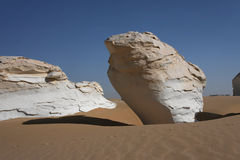 White desert rocks Stock Images