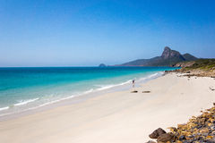 White deserted Vietnamese beach with turquoise water Royalty Free Stock Image