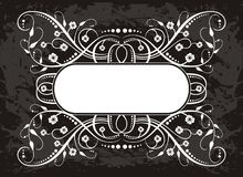 White design on dark gray Stock Images