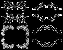 White design elements on a black background Royalty Free Stock Photography