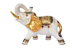 White design elephant is Thai , Royalty Free Stock Photo