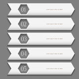 White Design template with stylized arrows Stock Image