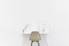 White desk  Stock Images