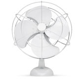 White desk fan. Isolated render on a white background Royalty Free Stock Photos