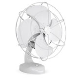 White desk fan. Isolated render on a white background Stock Photography