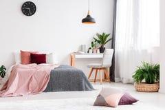 Pastel bedroom for girl Stock Image