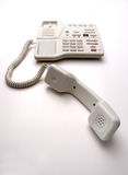 White desk or office phone  Royalty Free Stock Photos