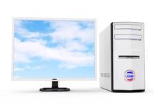 White desktop computer Royalty Free Stock Images