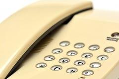 White desktop phone Stock Image