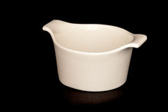 White dessert bowl Royalty Free Stock Photography