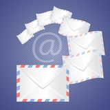White detailed envelopes Stock Photography