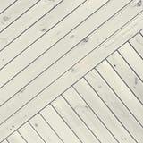 White Diagonal Planks Stock Photo