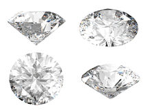 White diamond in different angles Stock Images