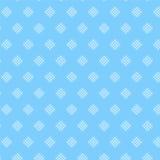 White diamond shape weave pattern on soft blue background Royalty Free Stock Images