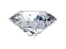 White diamond side view Royalty Free Stock Photos
