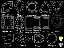 White diamonds against black Stock Image