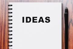 White diary for recording ideas Royalty Free Stock Image
