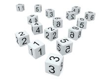 White dice Royalty Free Stock Images