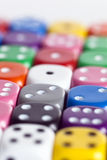 White dice Stock Photography