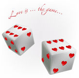 White dice Royalty Free Stock Photo