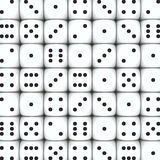White dice background Royalty Free Stock Images