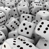 White dice background Royalty Free Stock Image
