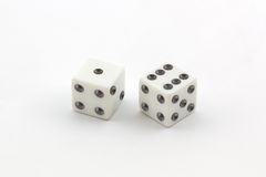 White dice. Royalty Free Stock Photo