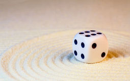 White dice with black dots Stock Photos