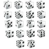 White Dice with clipping path Stock Image