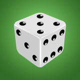 White dice on the green background Royalty Free Stock Image