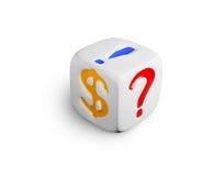 White dice Stock Photos