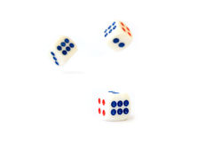 White dice isolated Royalty Free Stock Photo