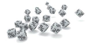 White dice percent Royalty Free Stock Photos