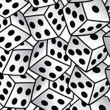White dice risk taker gamble  art background. Illustration Stock Photos