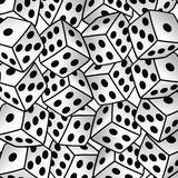 White dice risk taker gamble  art background. Illustration Royalty Free Stock Photos