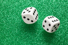 White dice Stock Images
