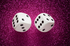 White dice Stock Image