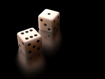 White Dice Stock Photos