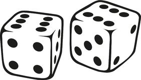 White dice vector. White dice play game vector Stock Image