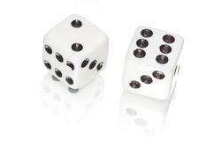 White dices Stock Photos