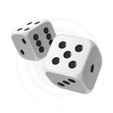 White dices. Vector illustration of white dices royalty free illustration