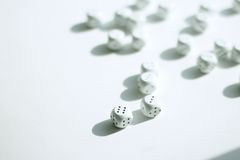 White dices Royalty Free Stock Photos