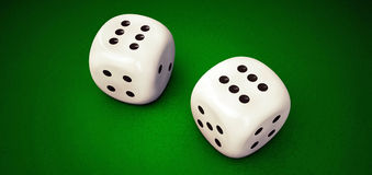 White dices Stock Photography