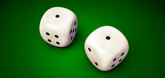White dices Royalty Free Stock Photography