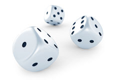 White dices Royalty Free Stock Image