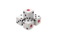 White dices pyramid Royalty Free Stock Photo