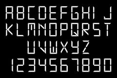 White digital font Royalty Free Stock Photography